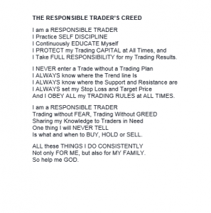 The Responsible Traders Creed