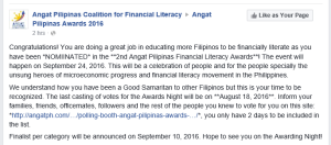 Angat Pilipinas Coalition for Financial Literacy_Influential Author of the Year1